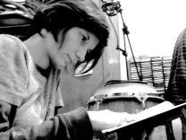 """Studio di registrazione Fuzz Factory per il pezzo """"Aborti terapeutici"""" di Francesca Del Moro, per la compilation Leitmotiv 14, Bologna, 2013"""