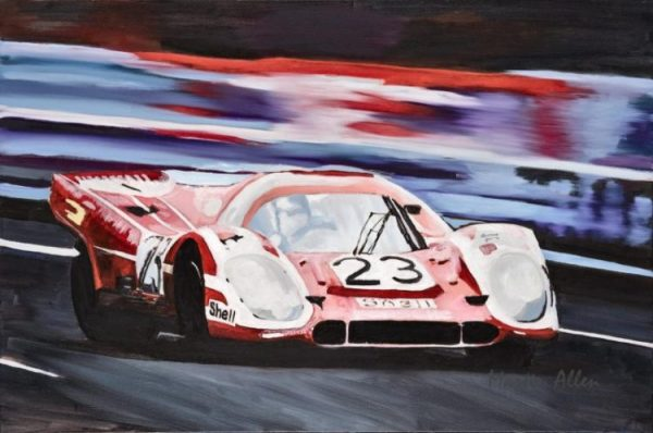 Porsche 917 Art Painting