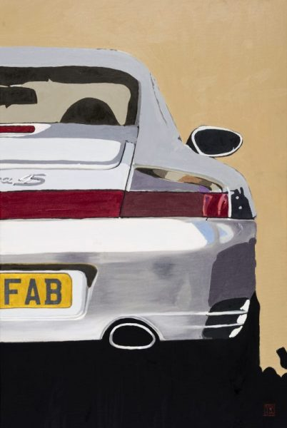Porsche 911 Carrera 4S Art Painting