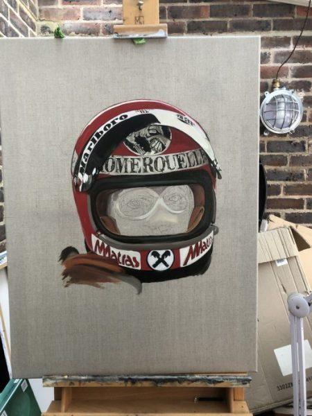 Niki Lauda fine art portrait painting oil on linen