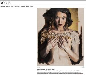 Artist Martin Allen featured in British Vogue with '24ct. Mad Cat'