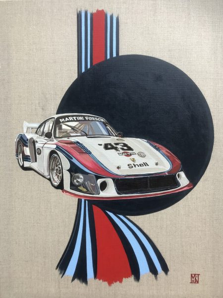 Martini Racing Art Porsche 935 fine art painting poster