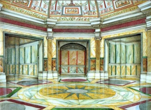 marble interior of an antique building