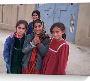 Four Kurdish girls, Kurdistan