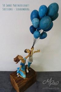 Gastgeschenk für Soissons - Pappmaché Figuren