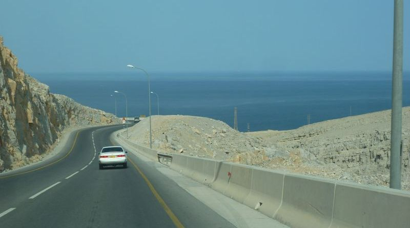 Drive along the coast in Oman