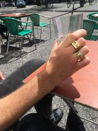Ring. Brass (on the left)