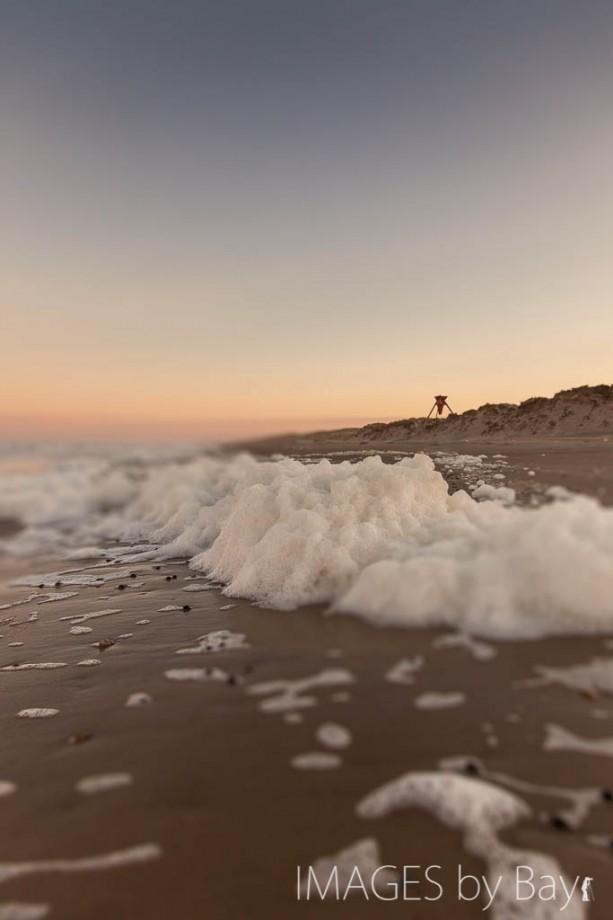 Foam at the beach!