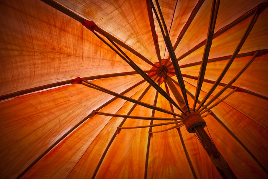 Image of Orange Umbrella