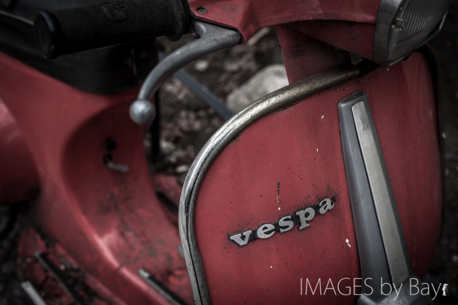 Red Vespa Image
