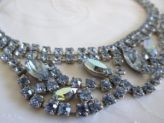 Weiss blue rhinestone necklace