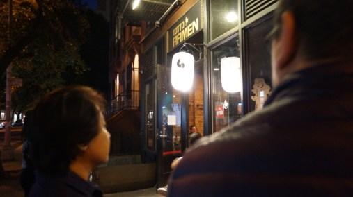 Man, this ramen shop was awesome. CURRY RAMEN!