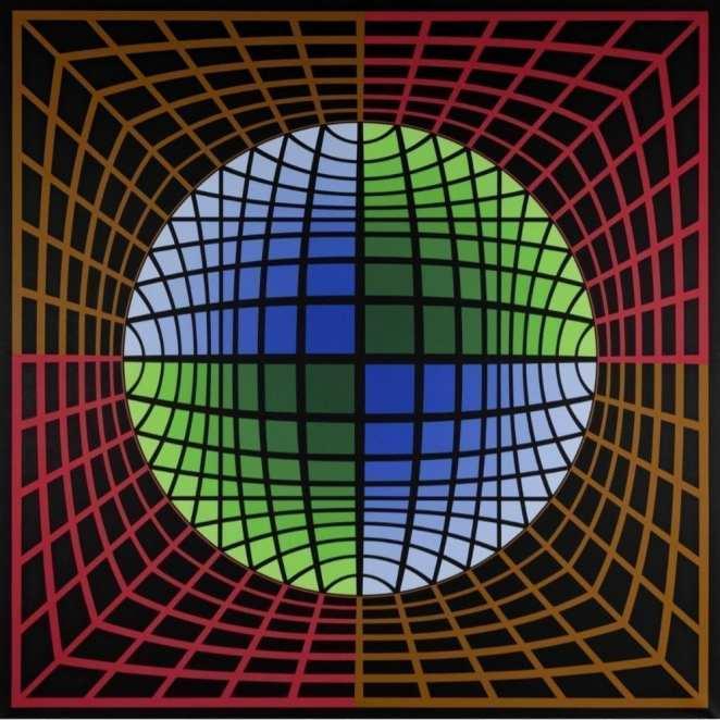 1601043304 Isom 1986 Victor Vasarely Dos imponentes obras de Victor Vasarely y Karel Apple protagonizan la próxima subasta de arte en Setdart