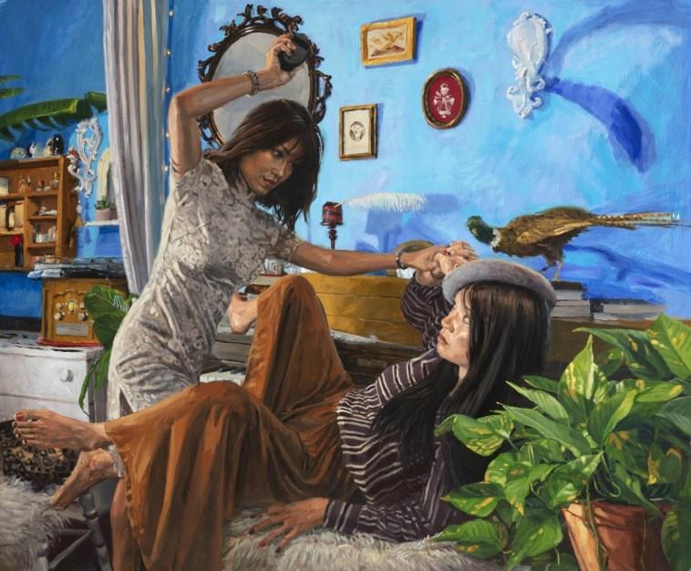 MICHELE DEL CAMPO_Best Friends_140 x 170cm._óleo sobre lino