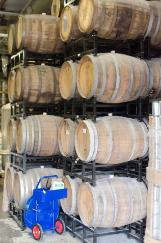 Martin City Brewery wine casks