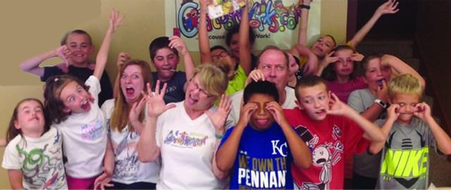 cartoon camp group silly