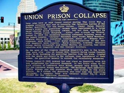 The collapse of a women's prison 154 years ago led to the bloody Lawrence Massacre