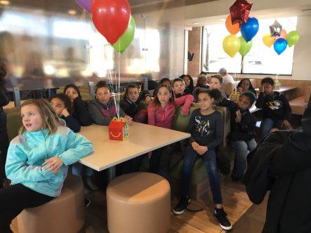 Grandview team at McDonalds