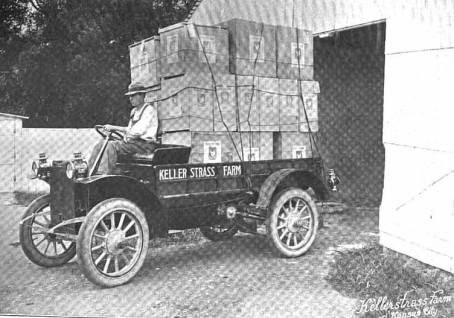 Ernest Kellerstrass transfers eggs from his successful poultry farm