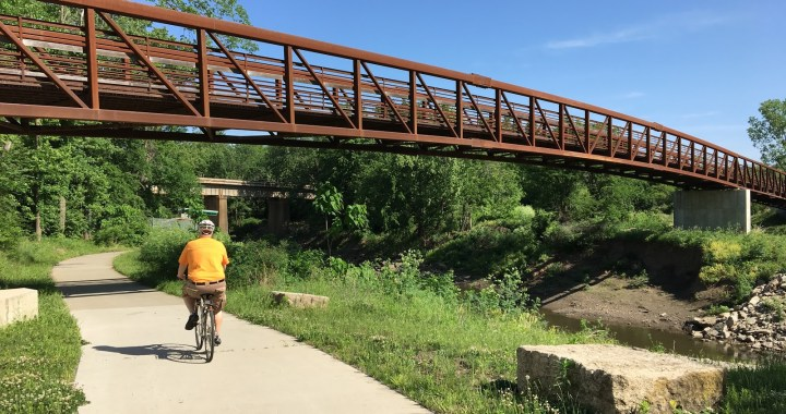 Biking the trails in south Kansas City