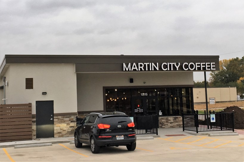 Martin City Coffee outside