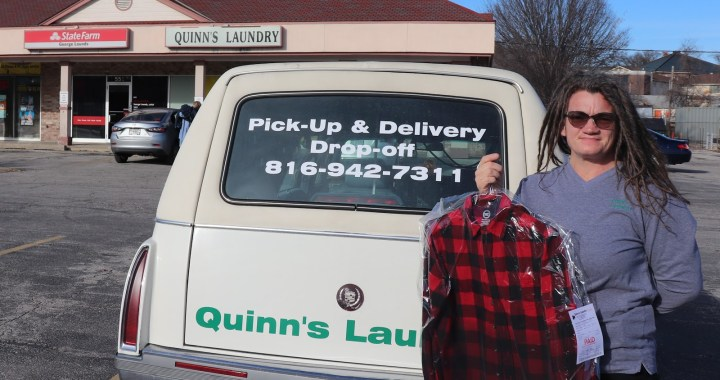 Quinn's Laundry provides delivery and Christmas cheer