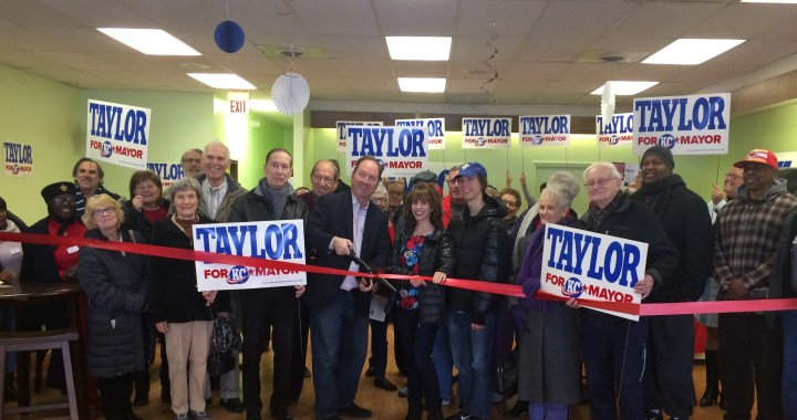 Taylor opens campaign headquarters in Red Bridge