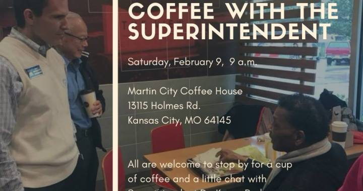 Martin City Coffee hosts Coffee with the Superintendent