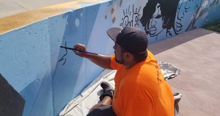 Mural brightens Martin City Coffee