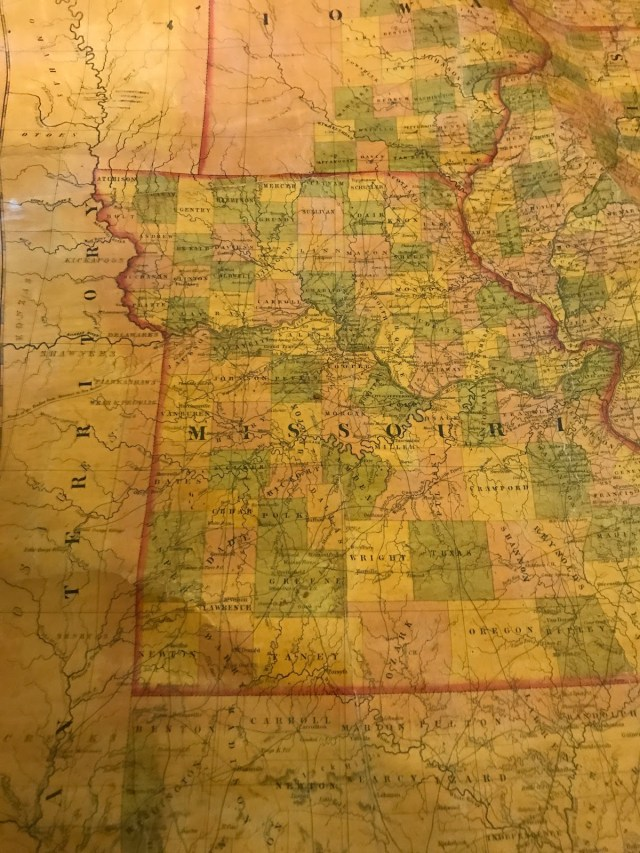 map united states 1845 hung in independence