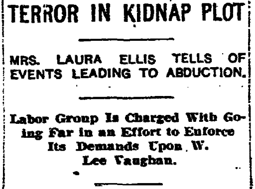 The curious kidnapping of Laura Ellis: A little-known 1930s saga