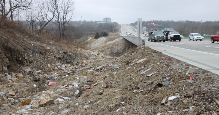 Trashed! Why all the litter along Kansas City's major roadways and what's being done about it
