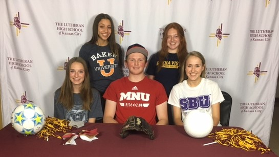 Lutheran High School Seniors set to play sports in college