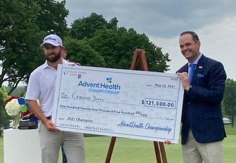 Cameron Young leads wire-to-wire for first Tour win at AdventHealth Championship