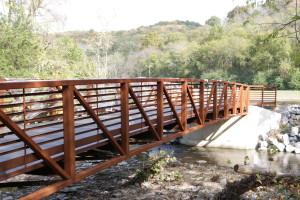 bridge at Fontanel fall colors