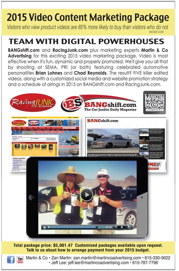 Martin & Company BANGShift, RacingJunk 2015 Video Program