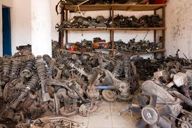 pile of used parts