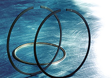 MAHLE engineers spent many years developing their thin piston ring design. Today their 1mm top and second ring and 2 mm oil ring sizes are considered state-of-the-art in piston ring development.