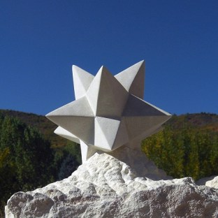 The Star, Kansas Creme Limestone Sculpture by Martin Cooney
