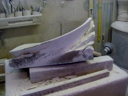 Studio Workshop, Mother of Pearl, The Maiden Collection, Colorado Yule Marble Sculpture by Martin Cooney