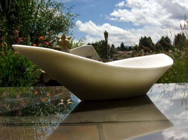 "Longboat 22.5x11.5x6.5"", The Maiden Collection, Colorado Yule Marble Sculpture by Martin Cooney"