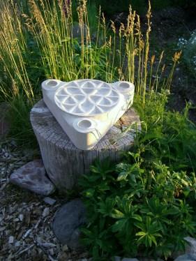 Triplicity, Kansas Creme Limestone Sculpture by Martin Cooney
