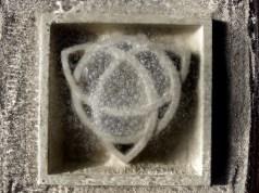 Frosty Morning, Celtic Eternal Knot, Limestone Sculpture by Martin Cooney