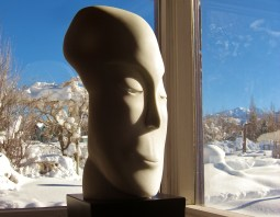 Mystique Masque, 1314 Winter Collection, Colorado Yule Marble Sculpture by Martin Cooney