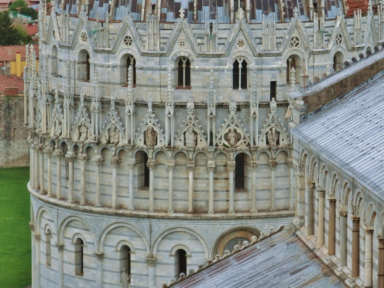 Baptistery and Pisa Cathedral, The Place of Miracles, on the North West Tuscan Way by Martin Cooney Dotcom