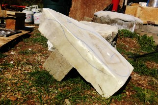 'No Strings Attached' (Rough Block) Hand Carved Marble Bowl by Martin Cooney