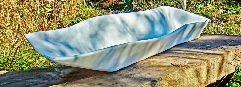 'Beached Boat' Hand Carved Marble Bowl by Martin Cooney