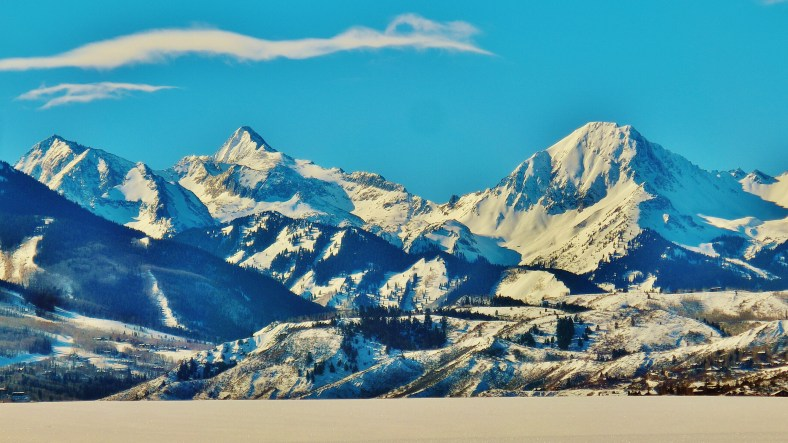 Snowmass Ski Area, Elk Mountain Range, Colorado, from McClain Flats Rd by MARTIN COONEY