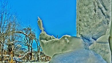 Ice Sculpture, The Sculpture Garden by MARTIN COONEY, Woody Creek, Colorado