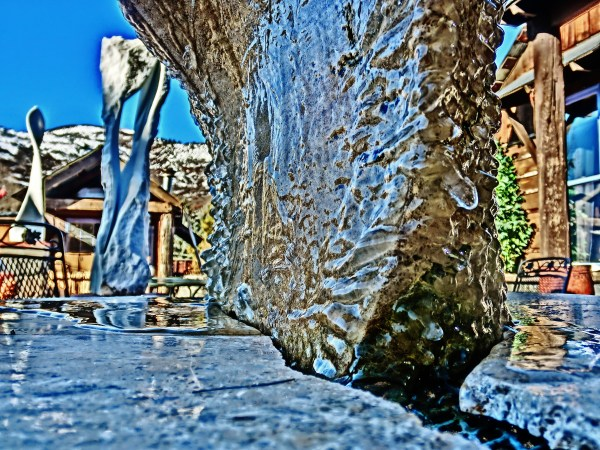 Ice Sculpture, Bird Mountain Fountain, by MARTIN COONEY, Woody Creek CO